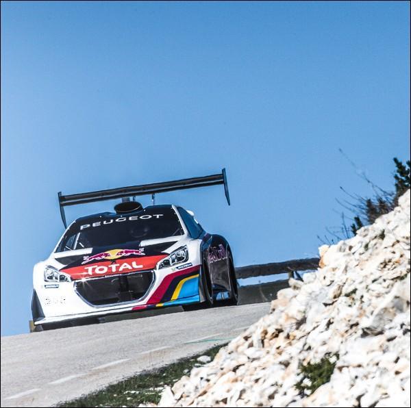 Afin d'éprouver sa monture dans les conditions proches de la course, dans quelle ascension a-t-il testé sa Peugeot 208 ?