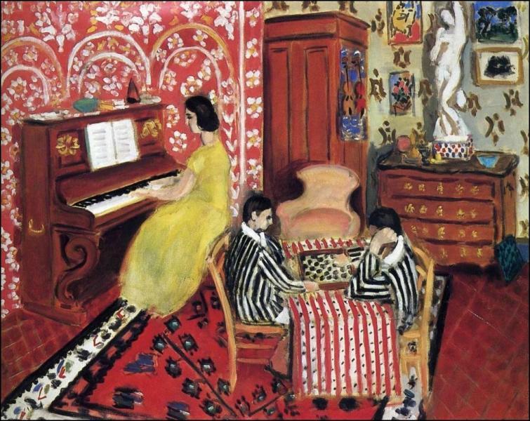 Qui a peint Pianiste et joueurs d'échecs ?