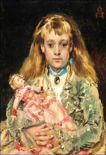 Qui a en peint cette fillette à la poupée ?