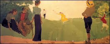 Qui a peint Un jeu de volants ?