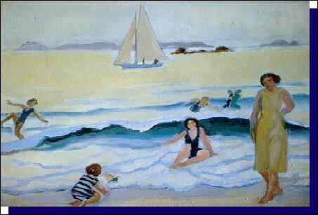 Qui a peint Jeux dans las vagues à Trestignel ?