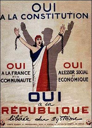 Quel est le nom du parti politique français constitué pour soutenir l'action du général de Gaulle lors de son retour au pouvoir en 1958 ?
