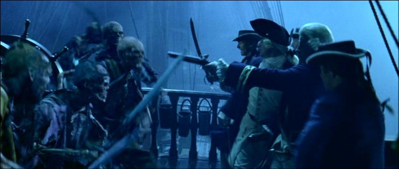 """La dernière bataille navale dans le film """"Pirates des Caraïbes : la malédiction du Black Pearl"""" intervient à l'île de la Muerta. Qui mène la résistance anglaise contre l'équipage du """"Black Pearl"""" ?"""