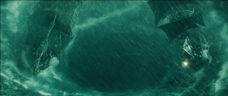 """Comment s'appelle le tourbillon, formé par la colère de Calypso, sur lequel s'affrontent le """"Black Pearl"""" et le """"Hollandais Volant"""" lors de la bataille finale, à la fin du troisième film ?"""