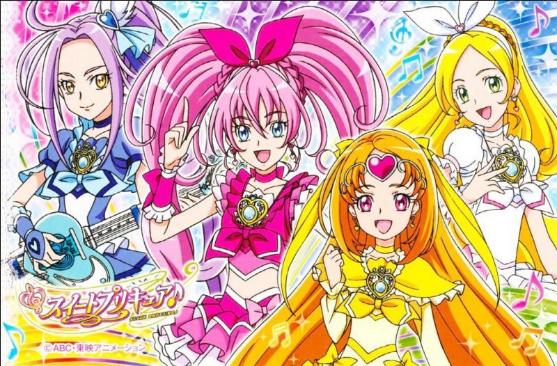Comment s'appellent les 4 filles quand elles sont en  Pretty Cure  ?