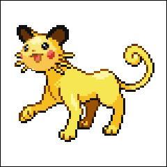 Mon premier est un Pokémon de type électrique qui ressemble à une souris et mon second est un Pokémon de type normal qui ressemble à un chat !
