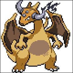 Ceci est un mélange d'un dragon de type feu/vol et d'un autre Pokémon de type normal, qui, dans la réalité, ne supporte pas le rouge !
