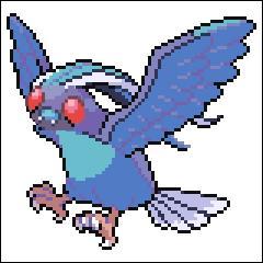 Mon premier peut lancer des attaques qui contiennent de la poudre en utilisant ses ailes ! Il est de type  Insecte et Vol  ! Quant à mon second, il est de type normal et vol, il ressemble à un aigle !