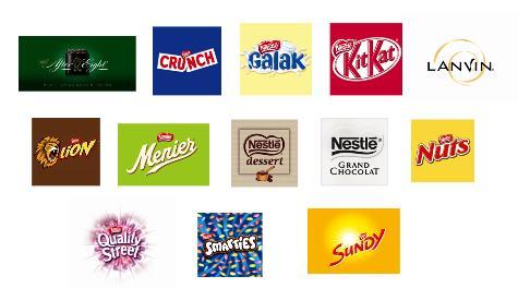 Les marques de chocolat