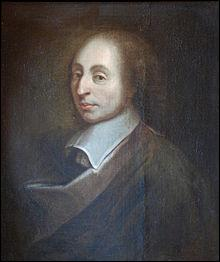 Blaise Pascal est un écrivain, savant et philosophe français du 17ème siècle.