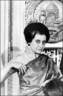 Indira Gandhi, femme politique indienne, a vécu durant le...