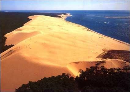 Comment s'appelle cette dune d'Aquitaine, la plus haute d'Europe, entourée d'un paysage magnifique ?