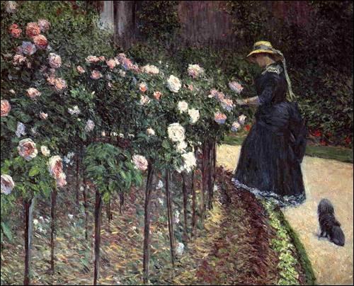 Qui a peint  Les roses, jardins du petit Gennevilliers  ?