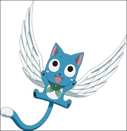 Comment s'appelle le petit animal de compagnie de Natsu ?