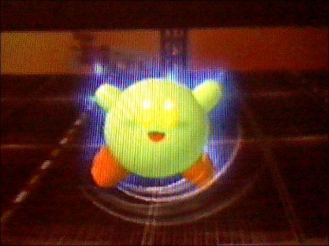 Kirby copie le Final Shmash du personnage qu'il a aspiré.