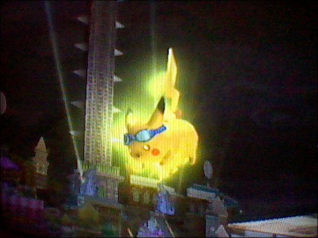 Pikachu se transforme en boule électrique quand il a son Final Shmash.