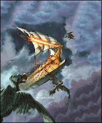 Dans le tome 3, qui attaque le camp romain à bord de l'Argo II ?