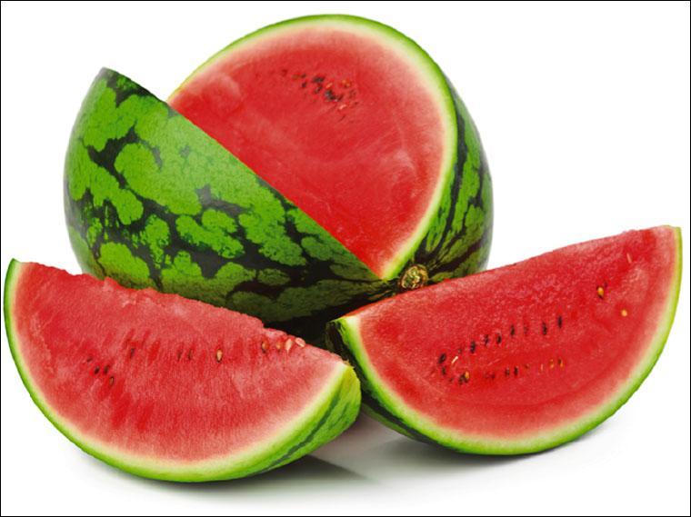 Je suis un gros fruit vert et lisse, à chair rouge ou jaune, je suis :