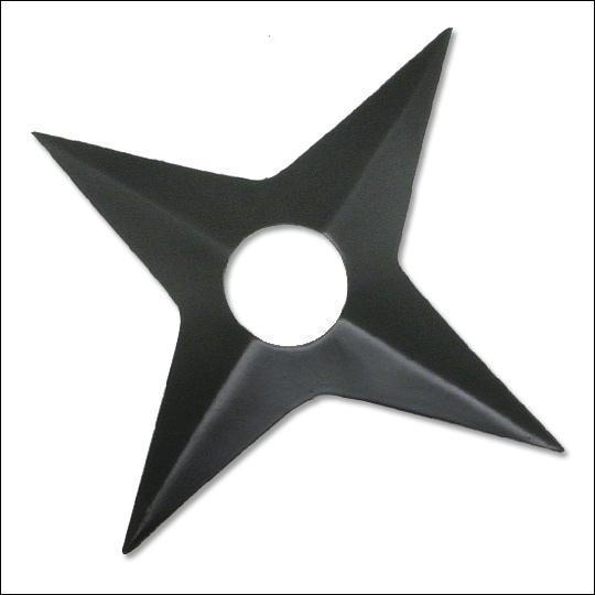 Quelle est cette arme en forme d'étoile (représentative des ninjas) ?