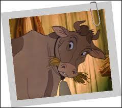 Comment s'appelle la vache de la veuve Tartine ?