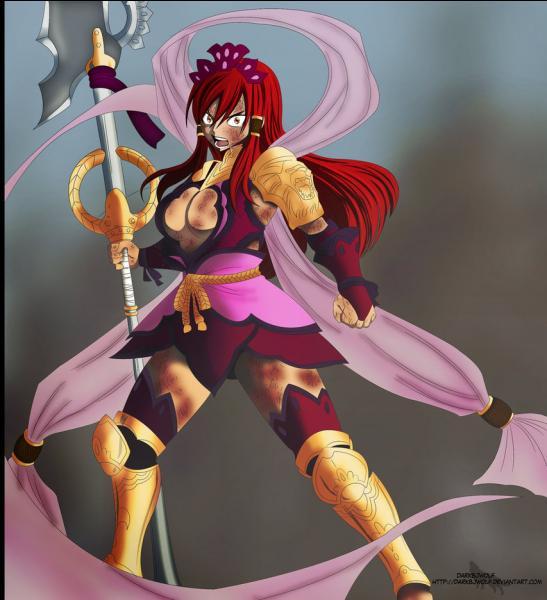 Comment s'appelle la nouvelle armure d'Erza, qui sert à vaincre Minerva ?