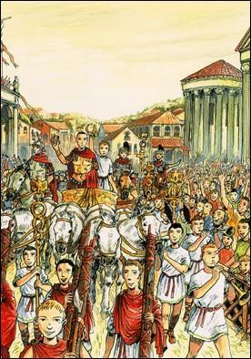 En -46, Cléopâtre rejoint César à Rome, certainement pour assister à son triomphe. Où plutôt à ses triomphes ! Combien en célébra-t-il ?
