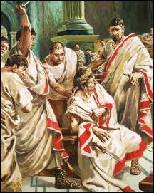La relation de César et de Cléopâtre prend brutalement fin quand César est assassiné, le jour des Ides. Quel jour cela s'est-il produit ?