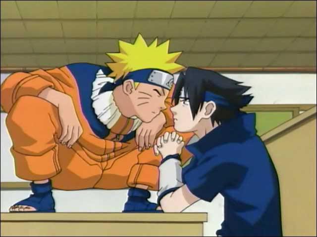 Qui gagne lors du premier affrontement contre Naruto et Sasuke ?