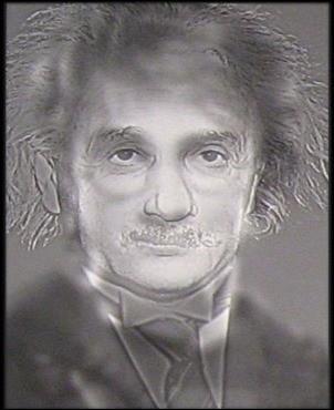 Comme par magie ! Vous voyez le célèbre Albert Einstein. Maintenant, reculez : quel personnage inventé par J. K. Rowling apparaît ?