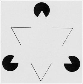 Vous percevez un triangle imaginaire qui a l'air :