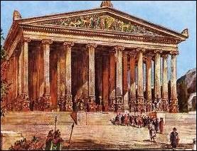 En échange de son appui, Cléopâtre lui demande (et obtient) la mort de sa sœur Arsinoé, qui se trouve  prisonnière , dans l'un des plus importants sanctuaires d'Artémis, à :