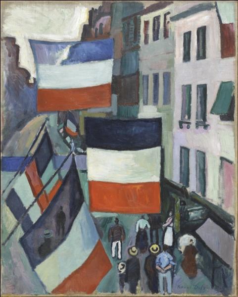La rue pavoisée