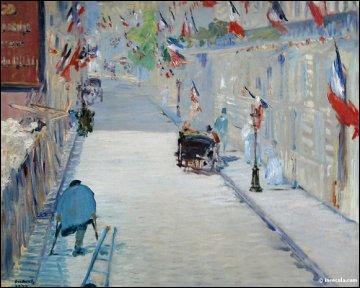 La rue Mosnier aux drapeaux, 1878