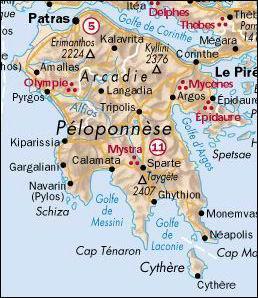 Depuis quelle année le Péloponnèse, en Grèce, est-il devenu une île par le percement du canal de Corinthe ?