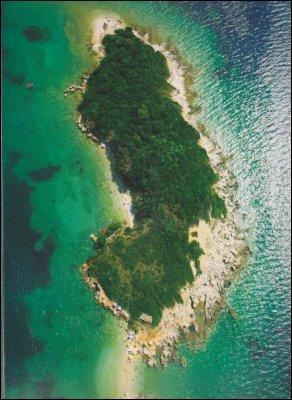 Dans quel pays est localisée l'île de Sazan ?