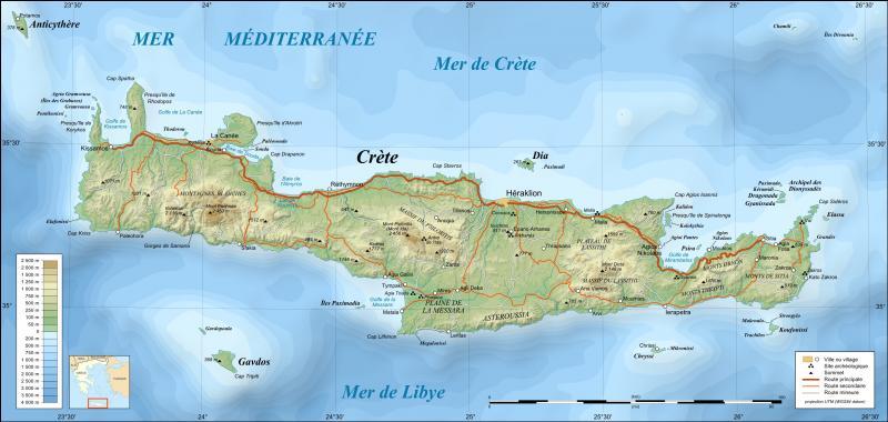 Quel est l'ancien nom de la Crète, la plus grande île grecque ?