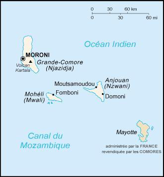 A partir de 1843, la France étend son protectorat sur un archipel situé entre la côte africaine et Madagascar. Quel est son nom ?