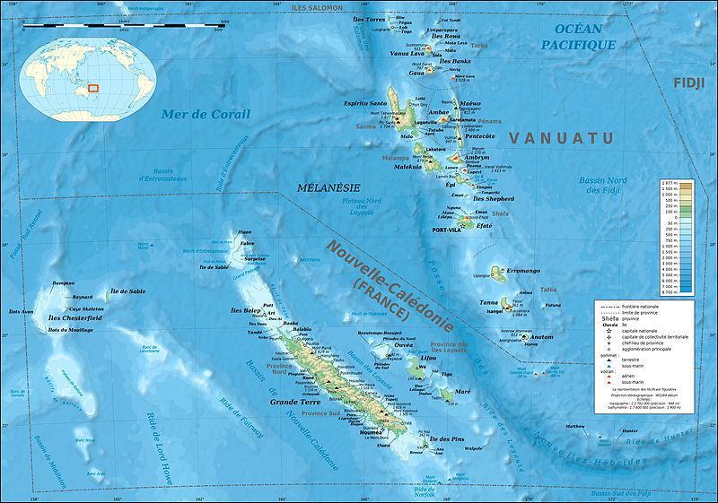 En 1853, quel archipel situé au large de la côte orientale de l'Australie est annexé par la France ?