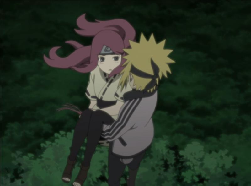 Qui est la femme de Minato (la fille avec lui sur l'image) ?