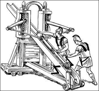 Quel est le nom de cette machine de jet romaine, qui lançait, entre autres, de lourdes flèches ?