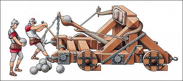 Les Romains adoraient cette machine de jet. Comment s'appelle-t-elle ?
