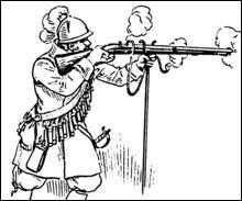 Comment s'appelle cette arme à feu, posée sur un support, qui n'est plus, maintenant, que le nom d'une liqueur ?