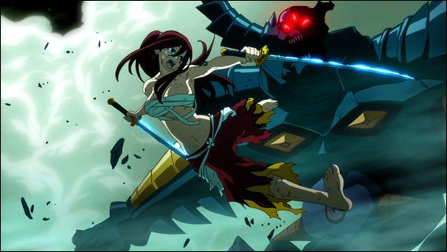 Combien de monstres Erza bat-elle lors du Pandemonium ?