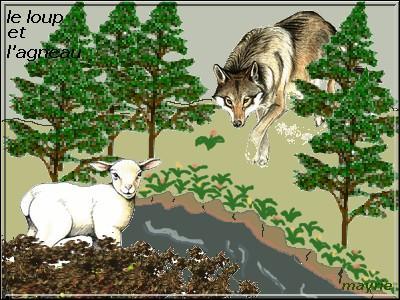 Le Loup et l'Agneau. / La raison du plus ... est toujours la meilleure.
