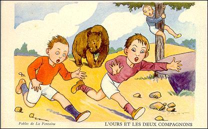 L'Ours et les deux Compagnons. / Il m'a dit qu'il ne faut jamais vendre la peau de l'Ours qu'on ne l'ait ... .