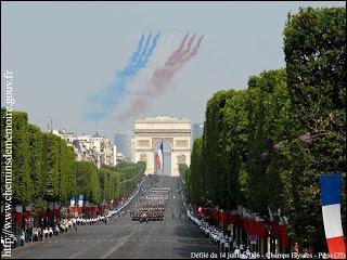 14 juillet : C'est la fête nationale de la France :