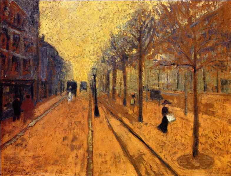 Quel artiste né le 9 novembre, a peint Avenue de Neuilly ?
