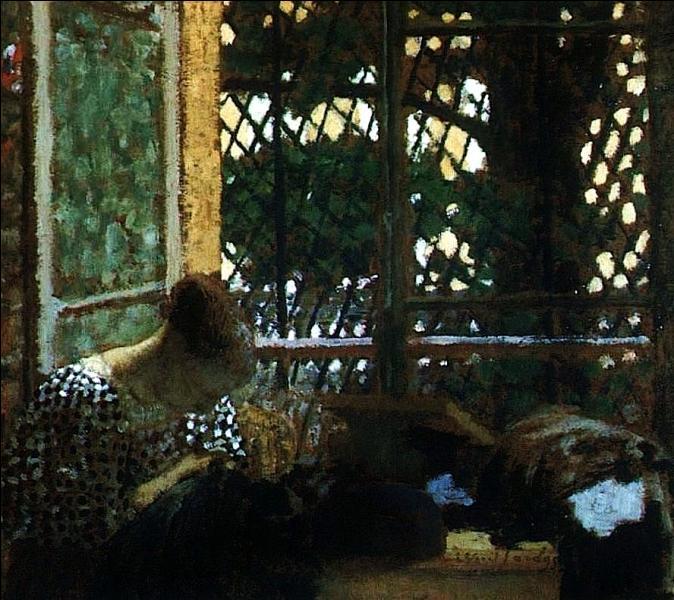 Né le 12 novembre, quel peintre a réalisé la toile  Femme cousant devant la fenêtre  ?