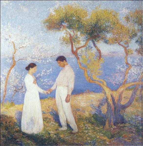 Né le 12 novembre, il a peint Paysage au couple :