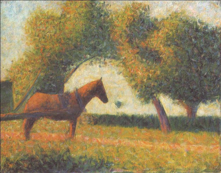 Quel peintre né le 2 décembre, a peint ce cheval ?